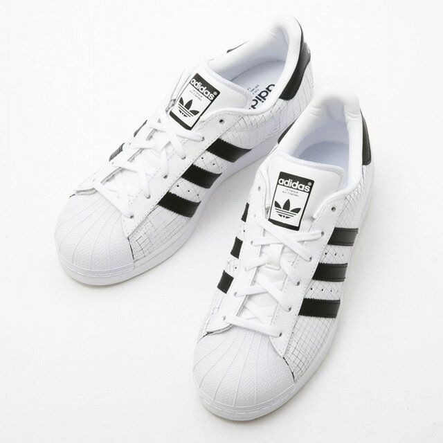 Superstar low-frequency cut shoes white X black lady's new stylish running  sale 40s brand for the Adidas adidas AQ8333 SUPERSTAR-SCRD sneakers men man