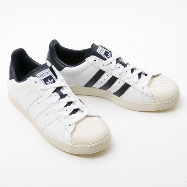 bb5a87e605b Superstar bulk low-frequency cut shoes white X navy lady s new stylish  running sale 40s brand for the Adidas adidas B27392 SUPERSTAR VULC ADV  sneakers men ...