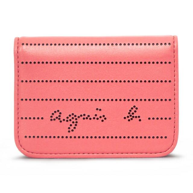 アニエスベー agnes b. カードケース パスケース 定期入れ 名刺入れ パンチング ピンク PINK レディース agnb pccds0213 pk