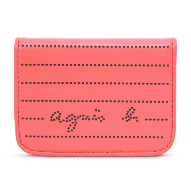 アニエスベー agnes b. カードケース パスケース 定期入れ 名刺入れ パンチング ピンク PINK レディース agnb pcpsc0213 pk
