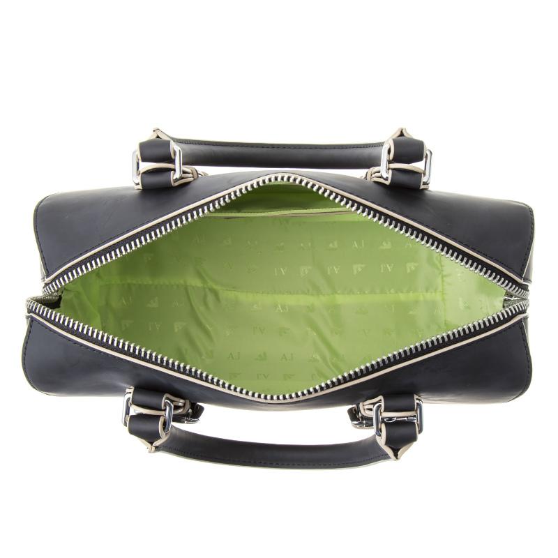 Of bag shoulder bag BLACK black   Green line at Armani jeans ARMANI JEANS  bag 922211 7P772 00020 2way mini-Boston bag handbag bias f231557681261