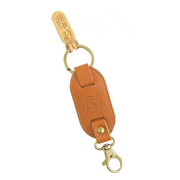 A イルビゾンテ IL BISONTE key ring C0434 145 COWHIDE KEYRING CAMEL key ring  genuine leather camel men lady s present gift for men for women is new 1627f1a444