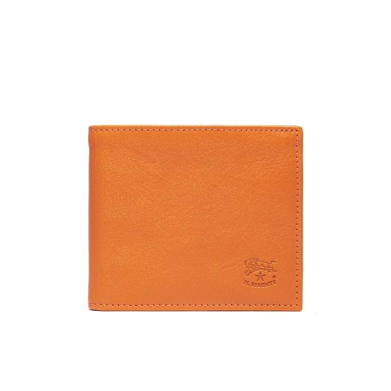 イルビゾンテ IL BISONTE 二つ折り財布 C0487 166 ORANGE 本革 オレンジ 折りたたみ財布 メンズ 男性 レディース 女性 プレゼント ギフト 新品
