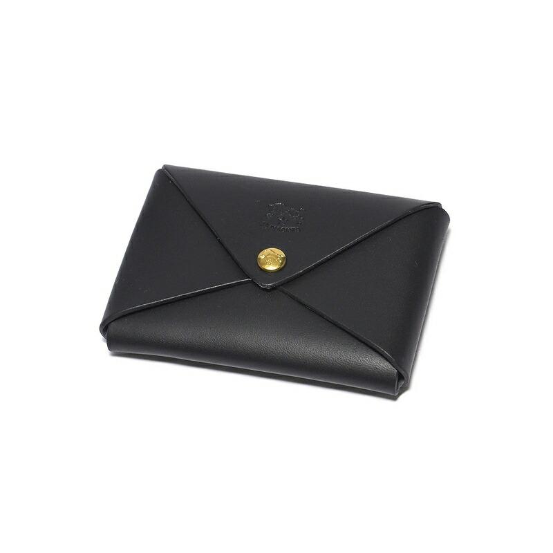 イルビゾンテ IL BISONTE カードケース C0854 135 BLACK 本革 ブラック 黒 カードホルダー メンズ 男性 レディース 女性 プレゼント ギフト 新品