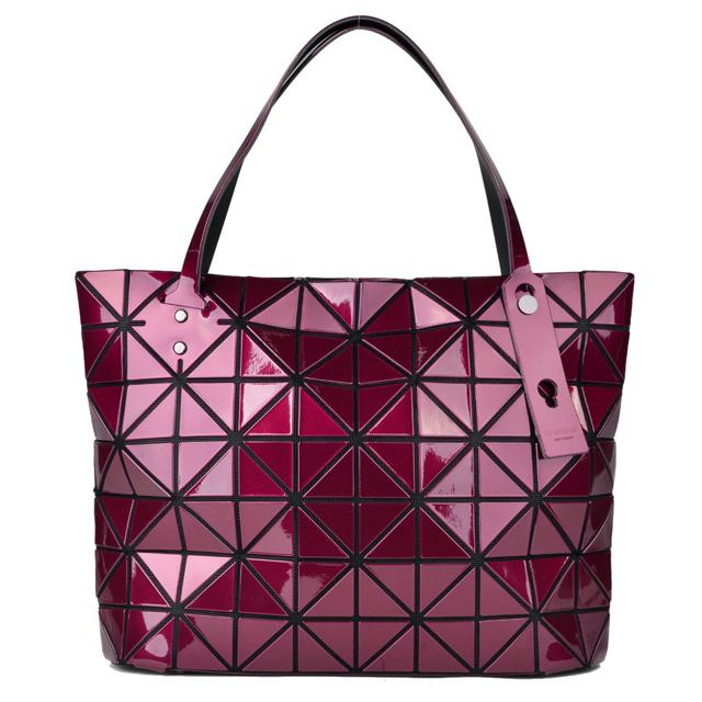 Baobaoisseymyake Bao Issey Miyake Tote Brand Las Bag New Red Wine Bordeaux Handbag Shoulder Made Of An Lock