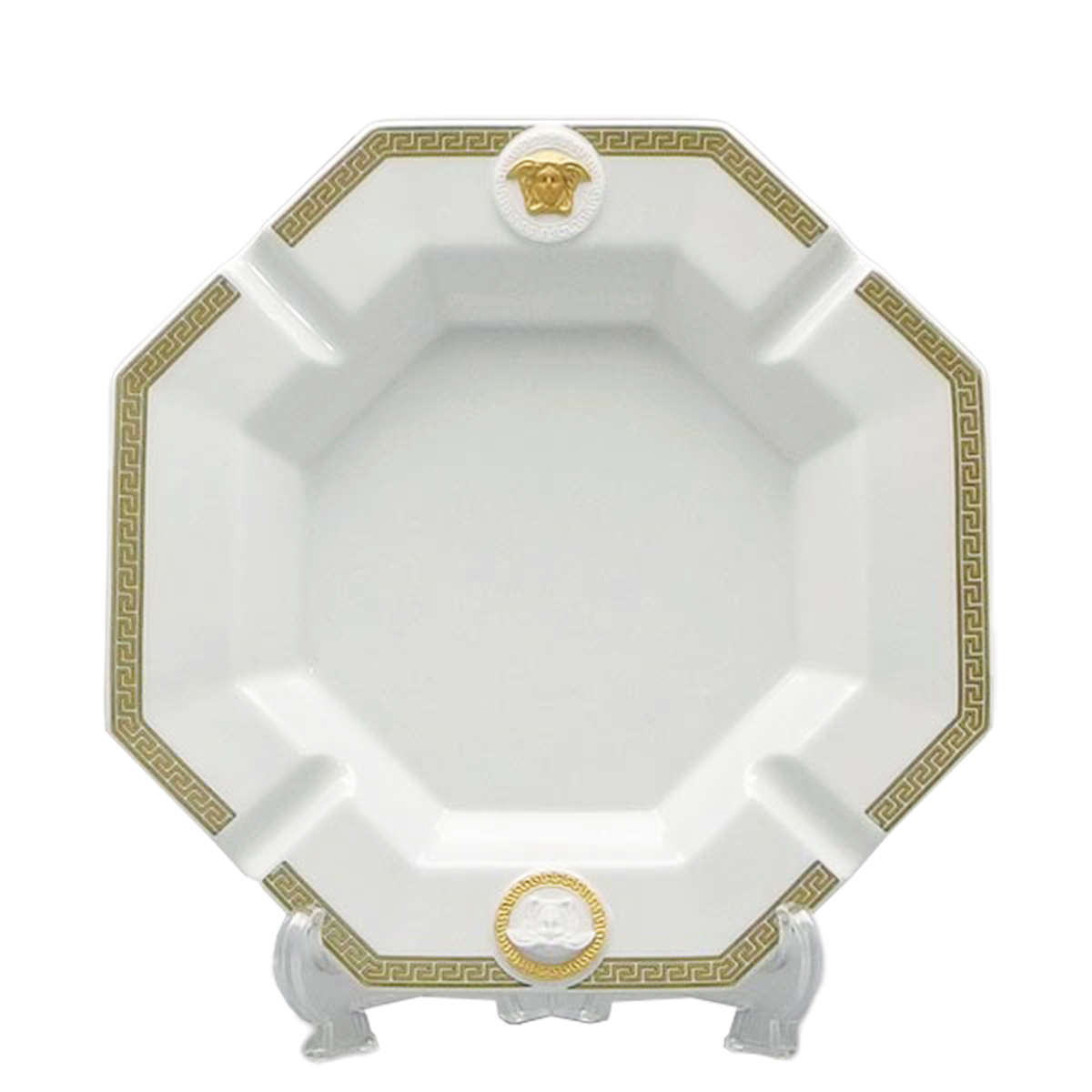 ヴェルサーチェ 灰皿 アッシュトレイ 27243 GORGONA ホワイト ゴールド 23cm プレゼント 父の日 誕生日