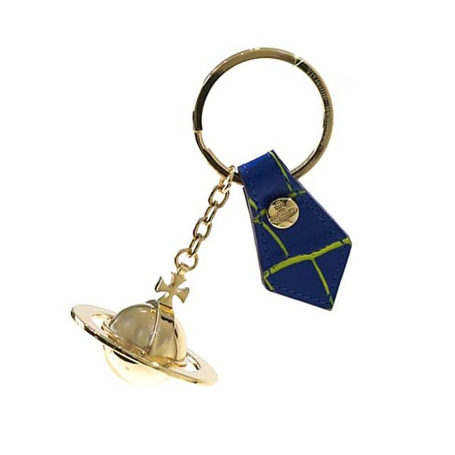 ヴィヴィアンウエストウッド キーリング Vivienne Westwood 321491 ROUND ORB GOLD GADGET ラウンドオーブ ゴールド ガジェット キーホルダー BLUE ブルー+イエロー