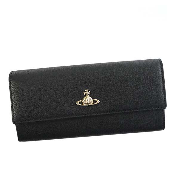 ヴィヴィアンウエストウッド Vivienne Westwood 51060022 BALMORAL バルモラル フラップ長財布 BLACK ブラック