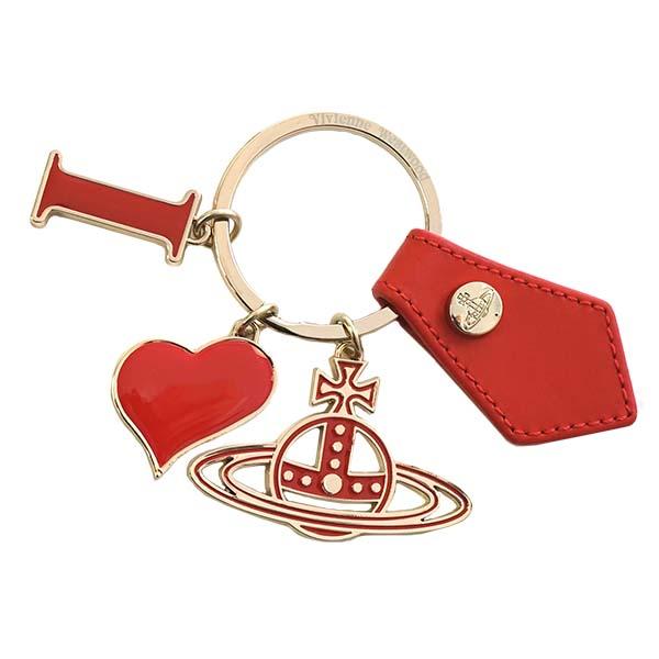 ヴィヴィアンウエストウッド Vivienne Westwood 82030009 I LOVE ORB GADGET アイラブオーブ ガジェット キーリング キーホルダー ゴールド+レッド