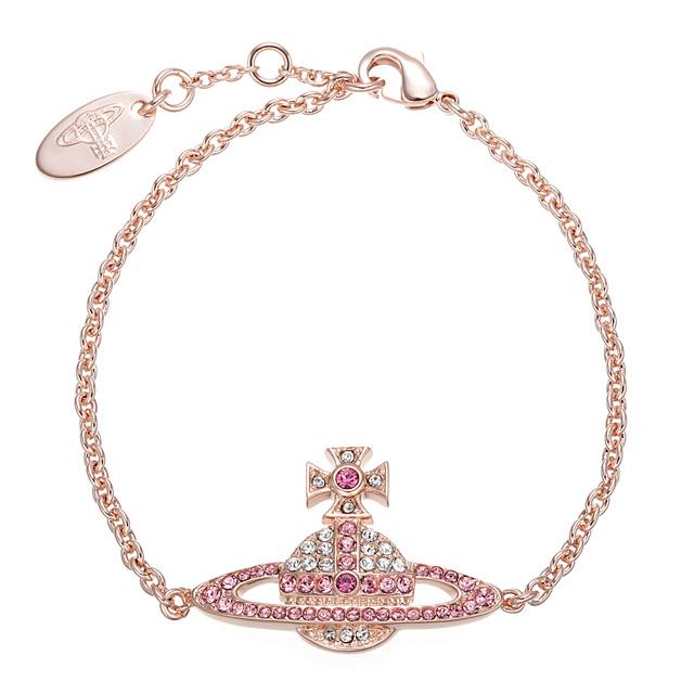 3aa5e8a21a3e1 Vivien waist Wood Vivienne Westwood BBL1005 1 KIKA BRACELET キカオーブブレスレット  CRYSTAL/ROSE pink gold + clear + Rose
