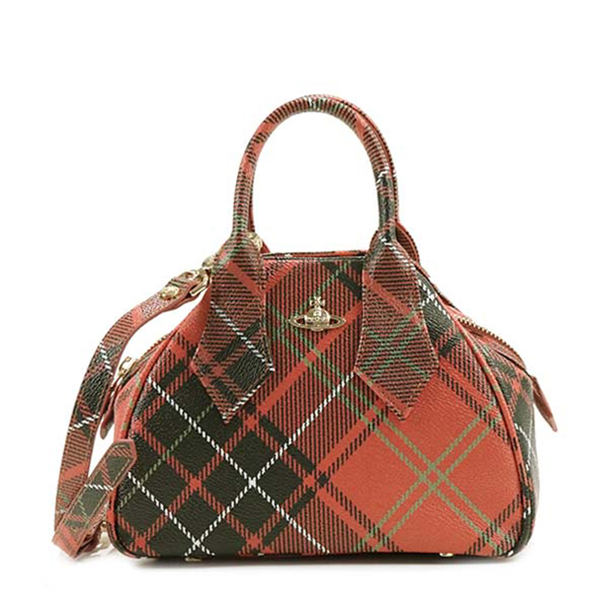 efdf08664c It is shoulder bag CHARLOTTE red system tartan checked pattern at Vivien  waist Wood Vivienne Westwood ...
