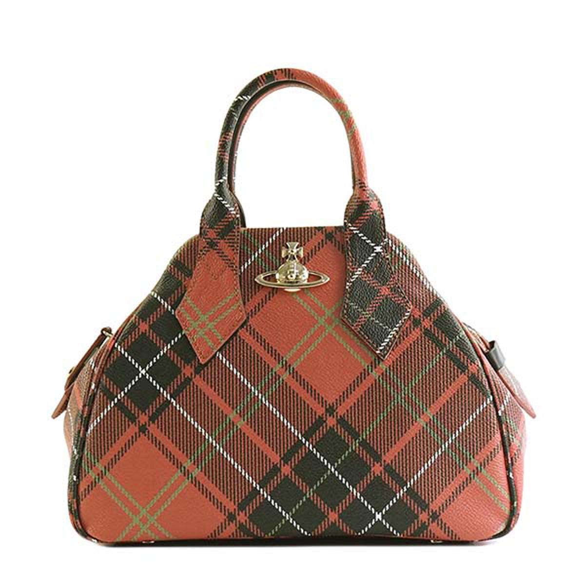 2faddb12fc Vivien waist Wood Vivienne Westwood 45020001 DERBY MEDIUM Derby medium handbag  CHARLOTTE red system tartan checked ...
