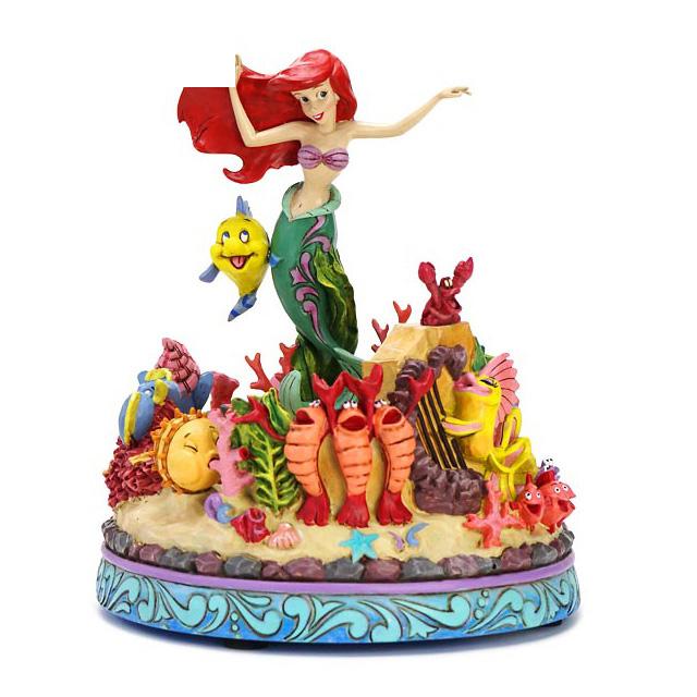 エネスコ enesco. ディズニー・トラディション Disney Traditions マーメイドミュージカル アリエル リトルマーメイド Little Mermaid Musical 木彫り調フィギュア リトルマーメイド アリエル 人魚姫 グッズ ギフト 出産祝い 男の子 女の子 おもちゃ 誕生日 1歳 2歳 3歳 4歳