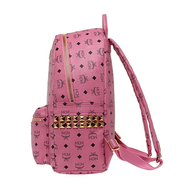 Mcm Luc M Size Korea Studded Pink Mens Womens Bag Elegante Mmk5sve38 Bp Pk Pk001 Medium Backpack Stark Stud Daypack