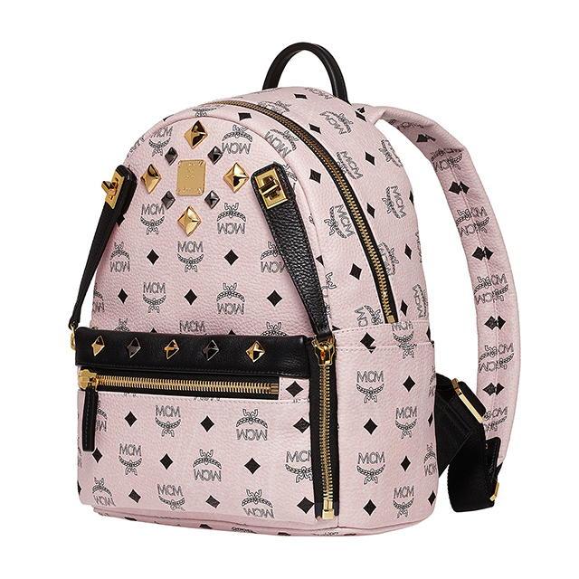 Mcm Backpack S Size Mini Korea Studded Light Pink Mens Womens Bag Elegante Mmk5sve80 Bp L Pk Ph001 Small Dual Stark