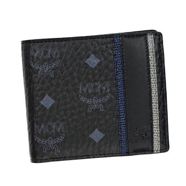 MCM MCM elegante wallet mens two-fold, black brand new Korea regular two-