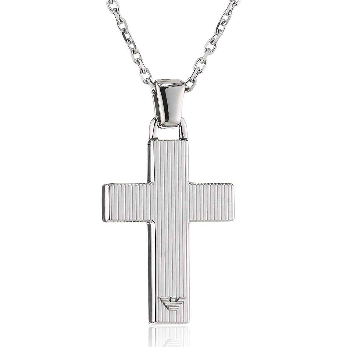 d7f0f0dc4 Emporio Armani EMPORIO ARMANI EGS1812040 cross necklace pendant silver ...