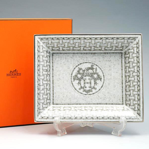エルメス HERMES チェンジトレー 35090P Mosaique Au 24 Platinum モザイク・ヴァンキャトル プラチナ 小物入れ herm-035090-1p