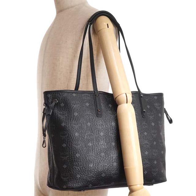 Mcm Elegante Mwp6avi38 Pouch Shoulder Bag Reversible Tote Bk Bk001 Per Med Black