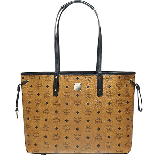 Mcm Elegante Bag Reversible Tote Mwp6svi38 Per Project Visetos Medium Shoulder M Cognac Camel