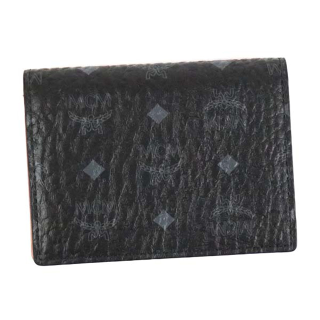 MCM エムシーエム 名刺入れ MXA7SVI20 2 FOLD CARD WALLET 二つ折り カードケース BK001 ブラック メンズ プレゼント 女性 誕生日 男性 ギフト 彼氏 贈り物 彼女 入学祝 卒業祝い 就職祝い 韓国 ファッション