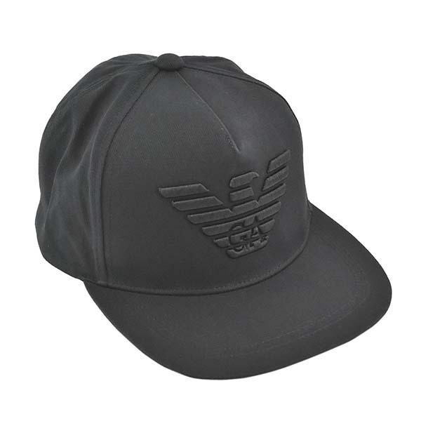 エンポリオアルマーニ EMPORIO ARMANI キャップ 帽子 627507 0A525 00020 BASEBALL HAT ベースボール ハット BLACK ブラック