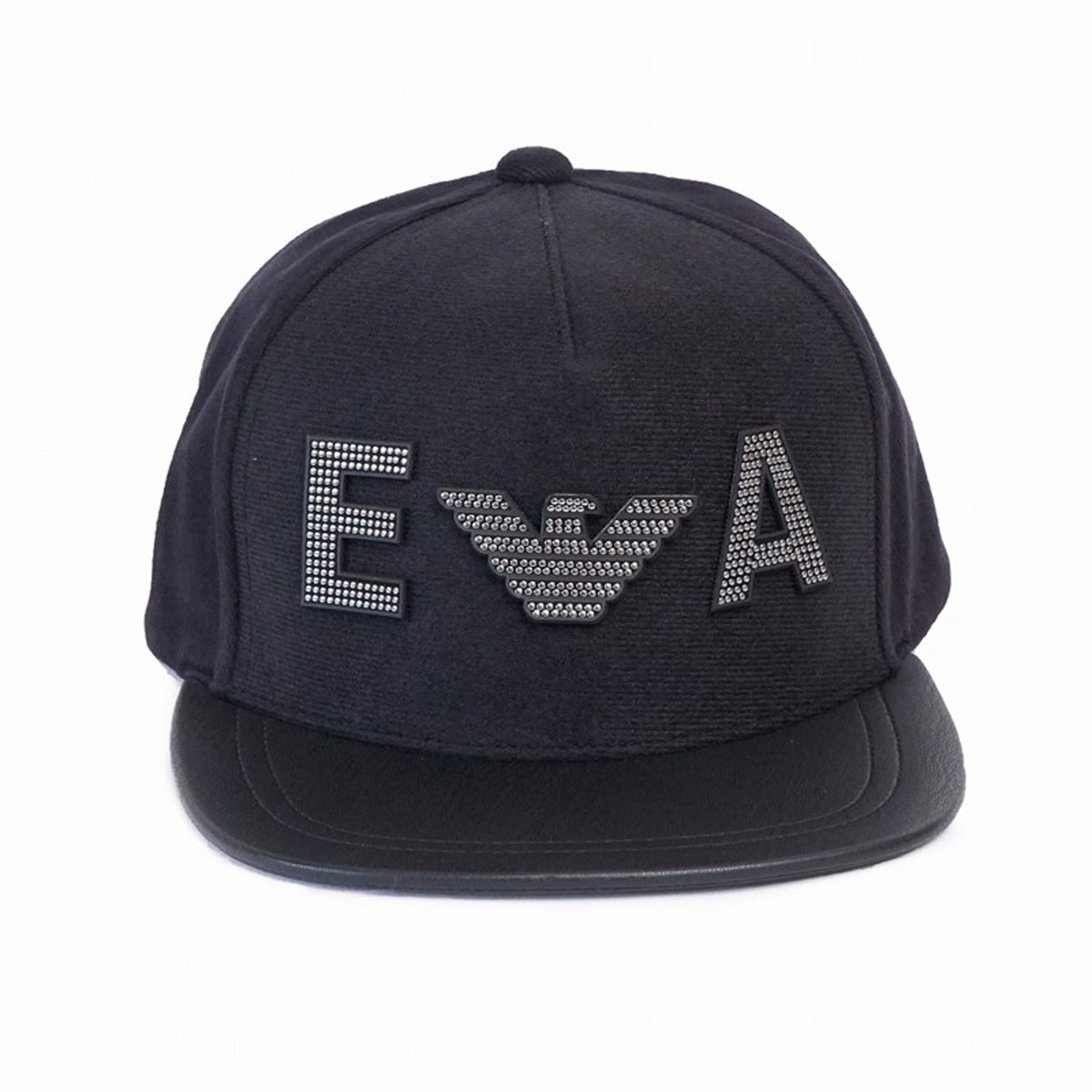 エンポリオアルマーニ メンズ 帽子 NEW ERA PATCHES BASEBALL HAT ロゴ パッチ ベースボール キャップ ブラック 627533 9A555 00020