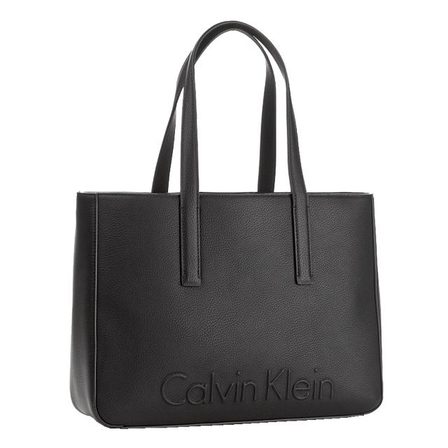 77a4f5b9205 Calvin Klein Calvin Klein CK tote bag shoulder bag Lady's men black black  bag Thoth shoulder ...