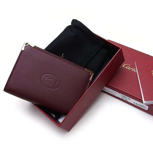 sale retailer 0b5e5 4f57c Cartier Cartier L3001366 card case card holder Must de Cartier card holder  must de Cartier card holder mens ladies leather leather brand new