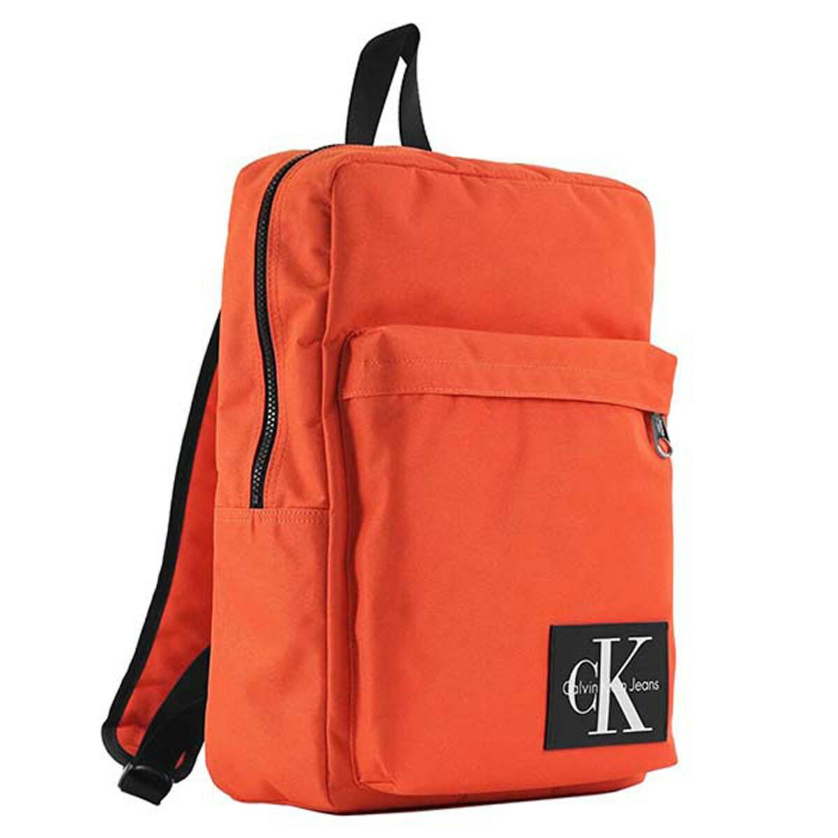 カルバンクラインジーンズ Calvin Klein Jeans CK リュックサック 750319 SLIM SQUARE BACKPACK 750319 スリム スクエア バックパック ORANGE オレンジ系+ブラック