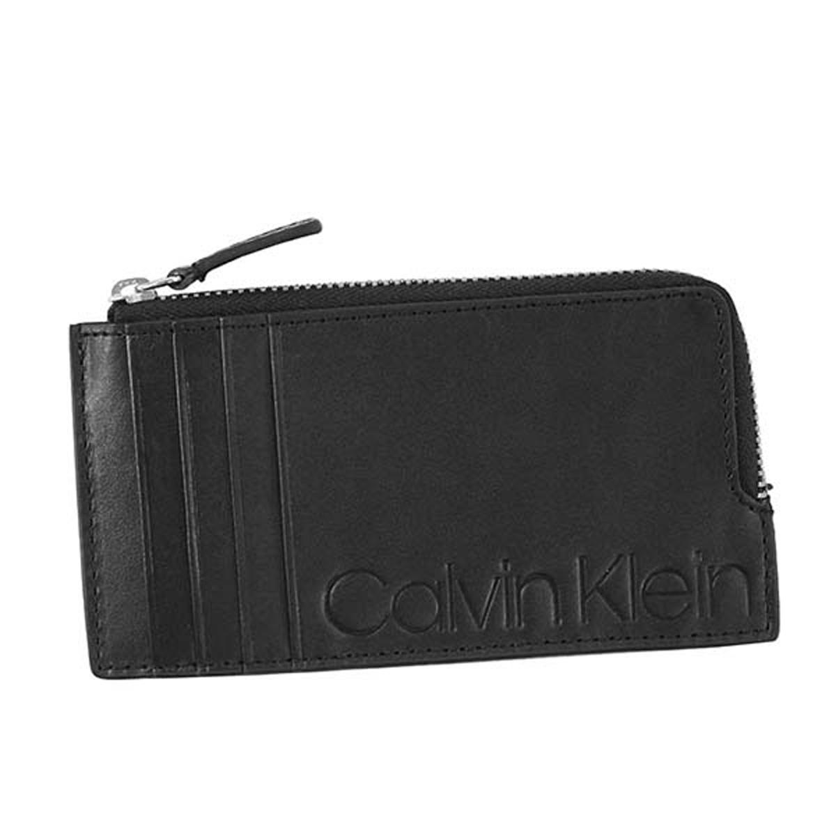 カルバンクライン Calvin Klein CK 79816 ZIP CARD CASE 小銭入れ付き カードケース BLACK ブラック