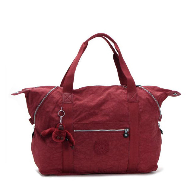 Kipling Boston bag shoulder bag trip bag lady men shoulder 2WAY new work red KETCHUP light nylon brand of popularity