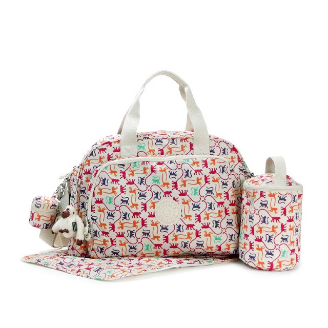 Mother Kipling Bag Bags Diaper Handbag 2 Way Also Mama Weights With Sheet Plastic Bottle Case オムツマット Monkey
