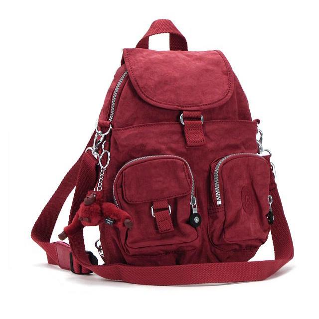 Kipling backpack kipling backpack brand women's popular travel bag nylon travel bag backpack fashionable new sale K13108 FIREFLY N red fs2gm