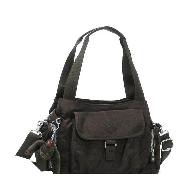 ( Kipling ) Kipling k13164-740 handbag bag shoulder bag sale new brand women's nylon brown black fs2gm