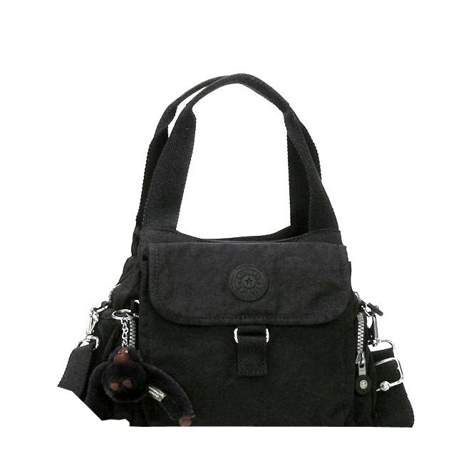 Kipling Shoulder Bag Handbag 2way Slant Credit Diagonal Latest New Brand Lady S Nylon Black Fs3gm