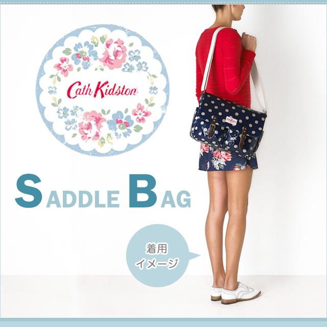 Cath Kidston キャスキッドソン SADDLE BAG 안장 가방 숄더백 기울기 하는 도중 메신저 가방