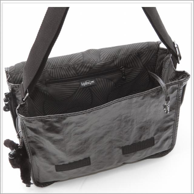 Kipling Shoulder Bag Black Lacquer Messenger Madhouse S Las Men New Fs2gm