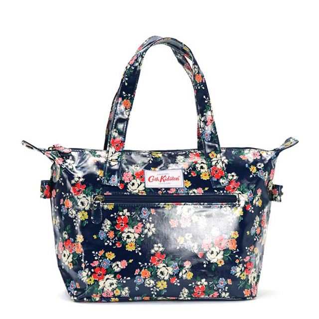 Cath Kidston Kidson Bag Handbag Small Zipped Clifton Rose Fl Design Midnight Blue Women S Brand White Birthday Christmas Gift
