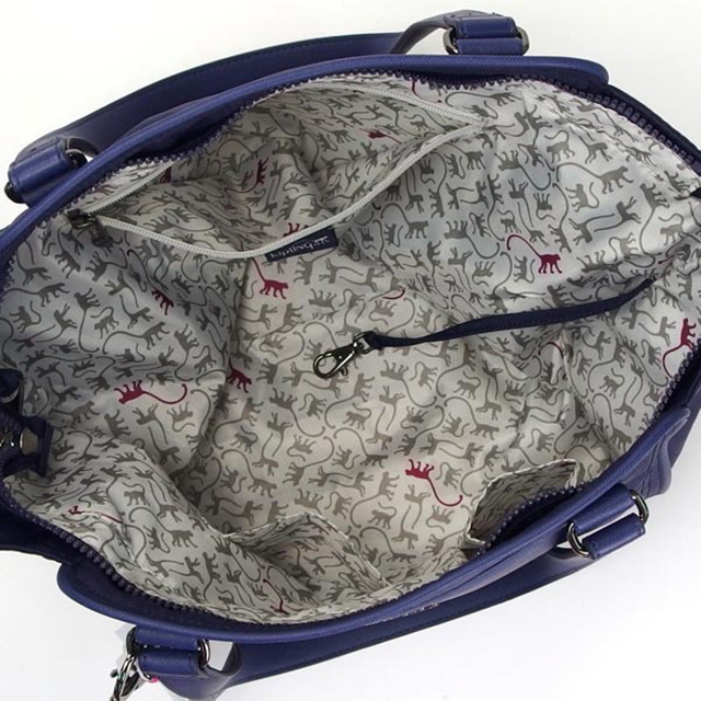 Kipling kipling also shoulder bag metal monkey charm Tote 2way Womens Bag  brand new ALEZIA S SO dark blue system + purple of fashionable regular  birthday ... fdad562ad0