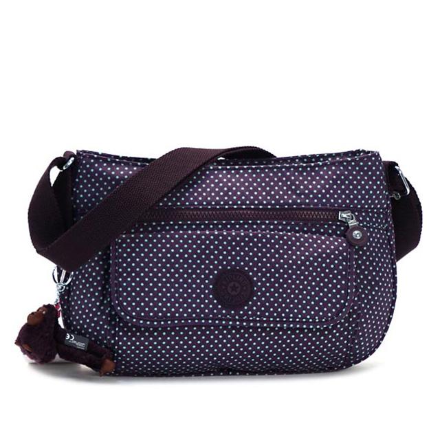 Kipling kipling diagonal bag shoulder bag women s nylon brand lightweight  monkey charm new SYRO SH dark purple + green series small dot nanamegake  k13163 ... 332dda4021
