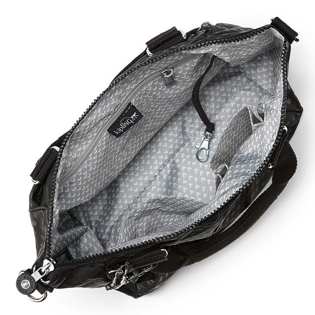 Kipling Shoulder Bag New Also Handbag 2 Way Black Women S Nylon Amiel Bk Dot Emb A5 Size