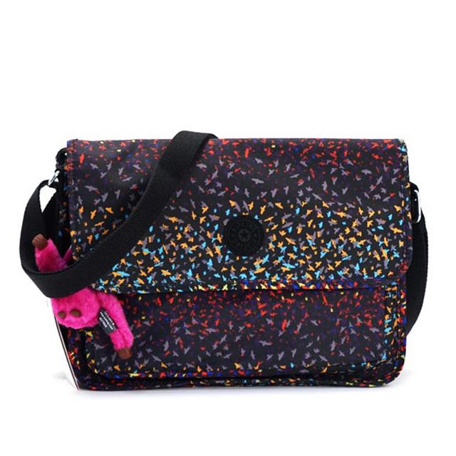 Kipling kipling also bag shoulder bag women s Nylon Lightweight brand pink  monkey charm hanging diagonally also new commuter school VILDA multi color  + ... 86e0e7c23e