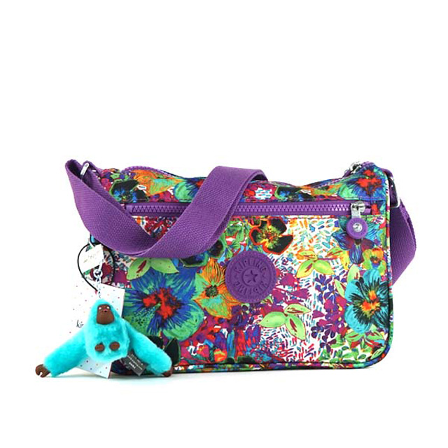 823dca95376 Kipling bag kipling shoulder bag HB6492 539 CALLIE also shoulder floral  print purple multi ...