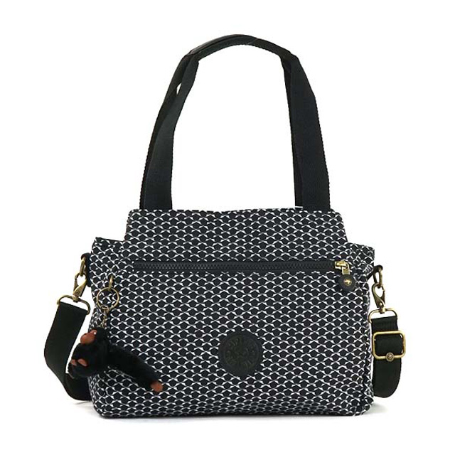 Kipling 2-way bag Kipling K43791 K40 ELYSIA also shoulder handbag mini Boston BK Black and white black