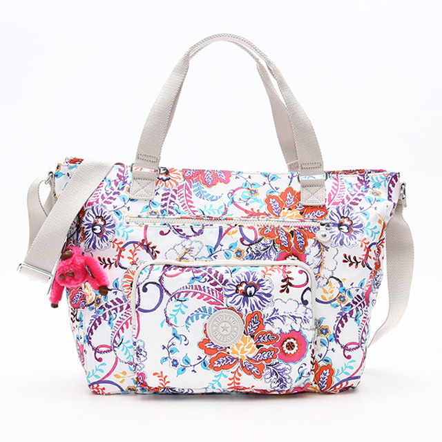 Kipling 2 Way Bag Tm5439 180 Maxwell Also Shoulder Tote White Colorful Multi