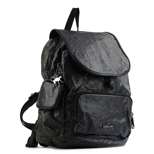 d367fae0f7 キプリング Kipling rucksack K00085 H31 CITY PACK S city pack S backpack LACQUER  NIGHT black system