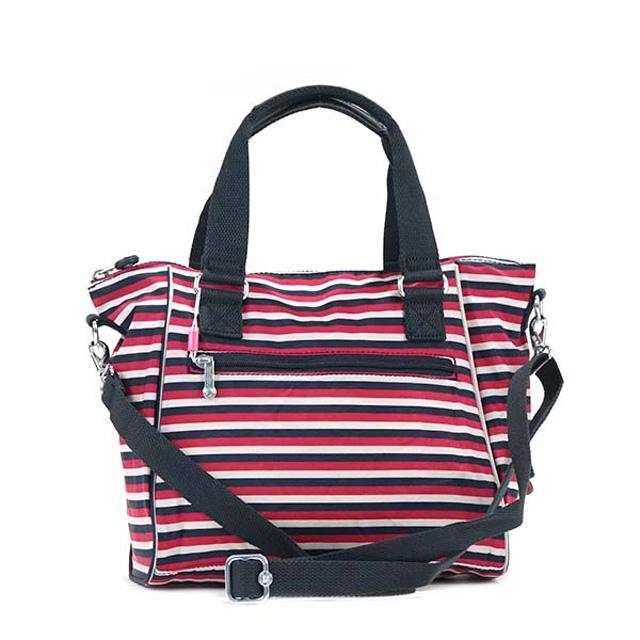 303cb4e839 It is SUGAR STRIPES red + navy + white stripe at キプリング Kipling K15371 L24  AMIEL 2way handbag shoulder bag bias