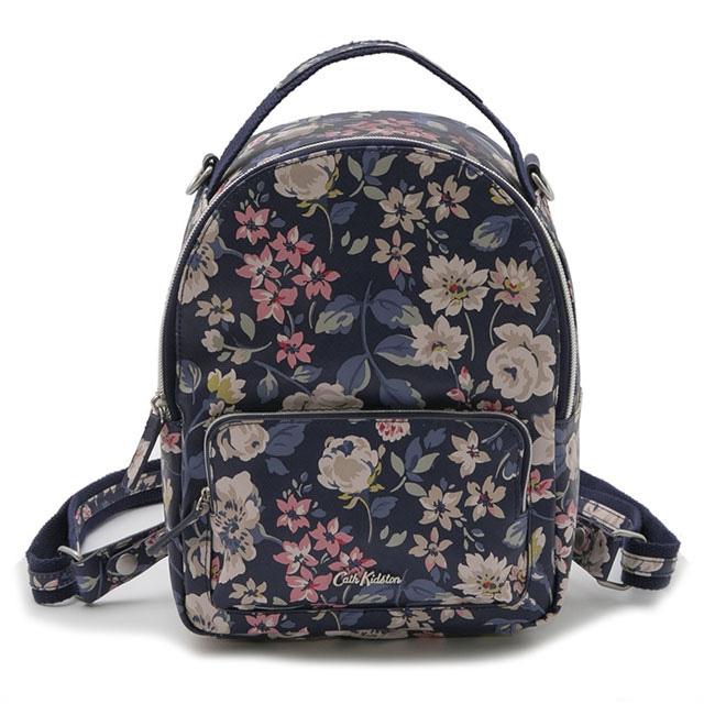 キャスキッドソン Cath Kidston 3Way バックパック リュックサック ショルダーバッグ ハンドバッグ Mini crossbody Backpack NAVY Pressed Flowers フラワー柄ネイビー系マルチ 719186