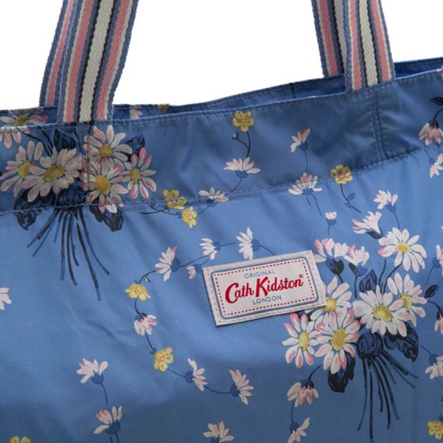 Cath Kidston Tote Bag Eco Subbag Folding Large Foldaway Riviera Blue Daisies Ercups Flower Pattern System Multi 756617